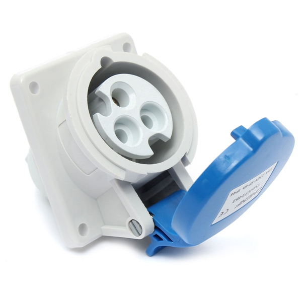 CF1463 IP44 3 Pin Industrial Waterproof Outdoor Power Outlet Soc