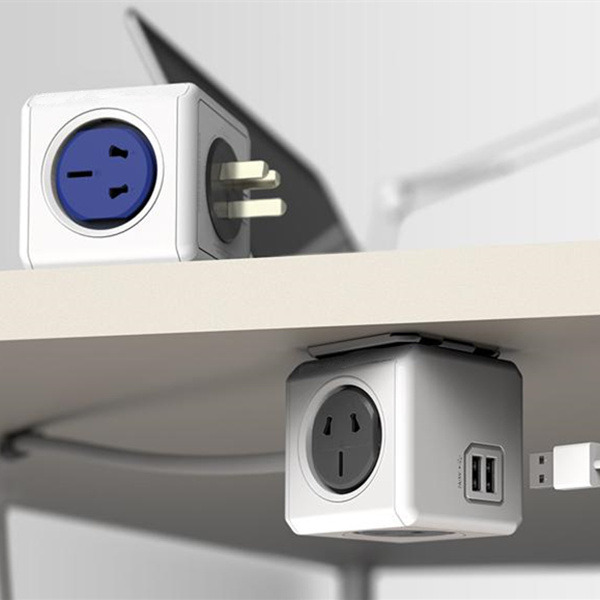 AU Household Cube Socket USB Power Outlet