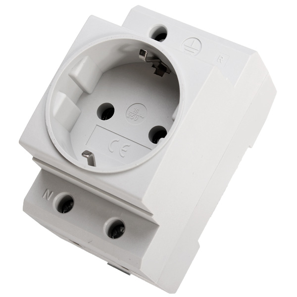 DAP20 EU Europe Germany DIN Rail Modular Socket
