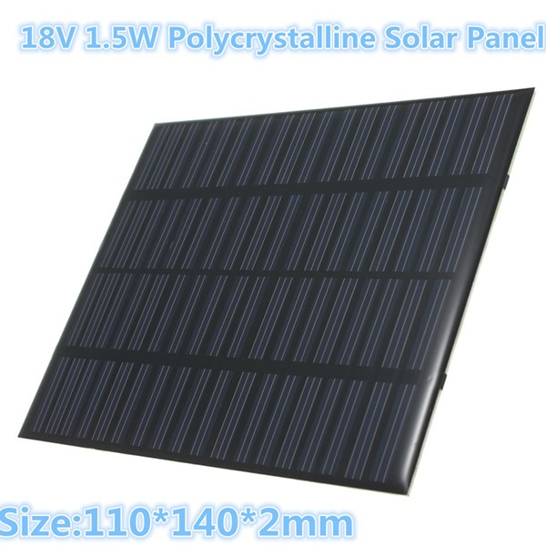 18V 1.5W Mini Solar Panel Photovoltaic Panel