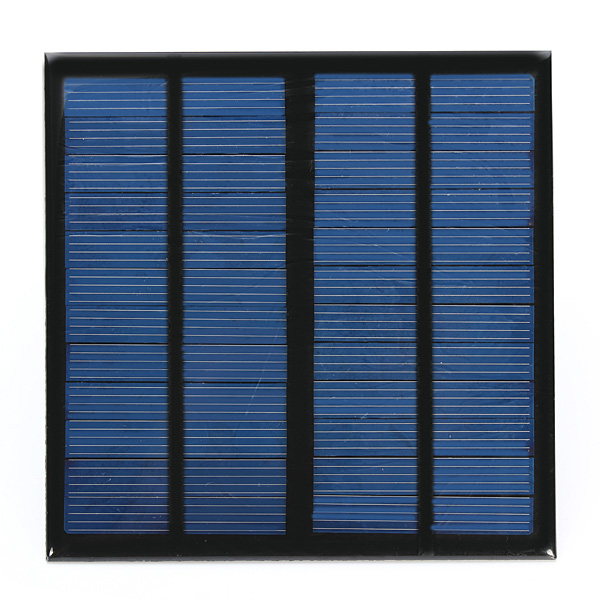 DIY 3W 12V 0-250MA 145x145x2.5mm Solar Panel Polysilicon Solar C