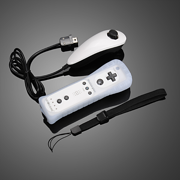 GOiGAME Nunchuck & Remote Controller Motion Plus for Nintendo Wi