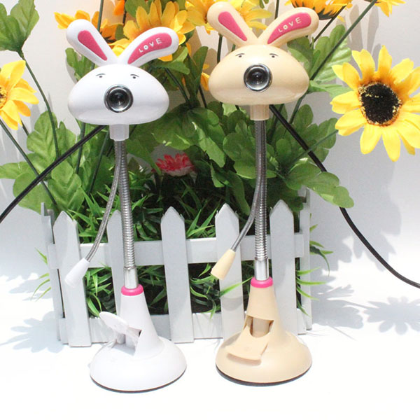 Snowwolf G1600 8 Mega Pixels Cute Rabbit USB Webcam With Microph