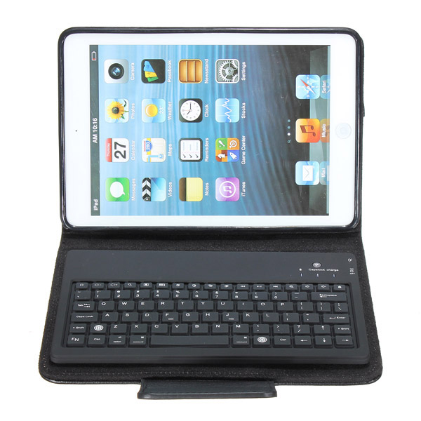 Wireless Bluetooth Keyboard With PU Leather Cover