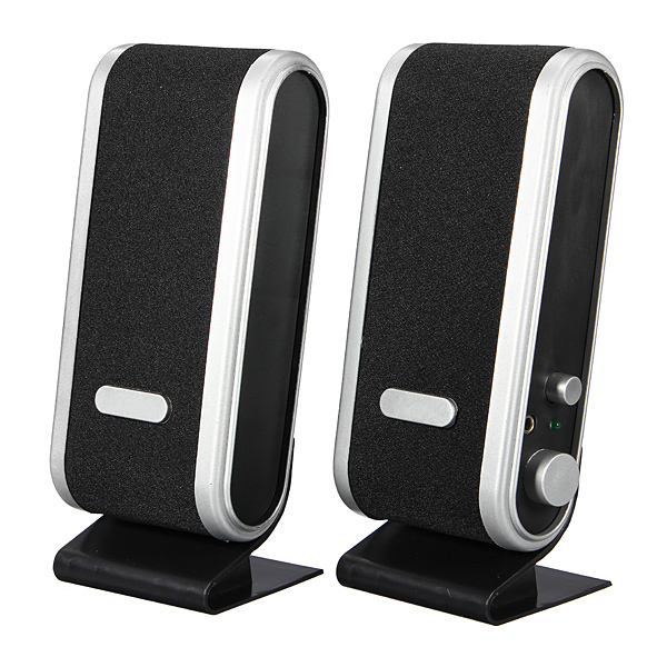3.5mm USB Jack USB Audio Power PC Notebook Speaker
