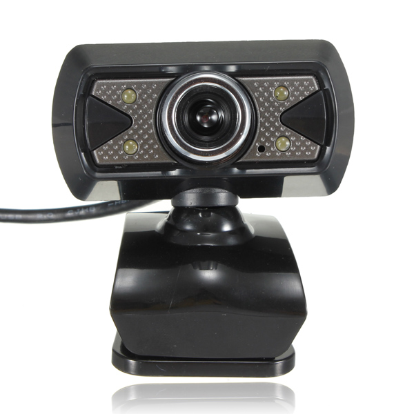 USB 30M HD Video Webcam Camera With Microphone LED Light