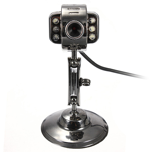 6 LED USB2.0 HD Webcam Web Cam Video Camera With Mic Night Visio