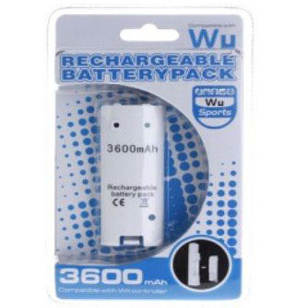 Rechargeable Battery Pack 3600mAh for Nintendo Wii Remote Contro