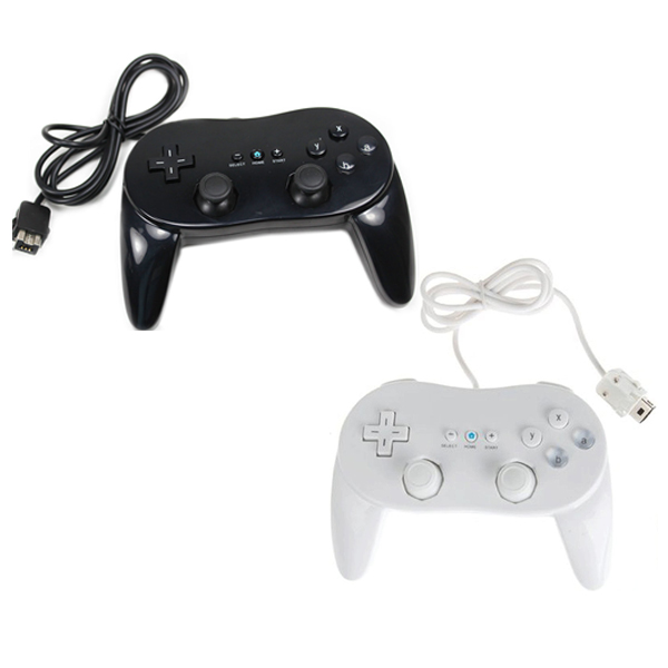 2nd Generation Classic Controller Pro For Nitendo Wii Black & Wh