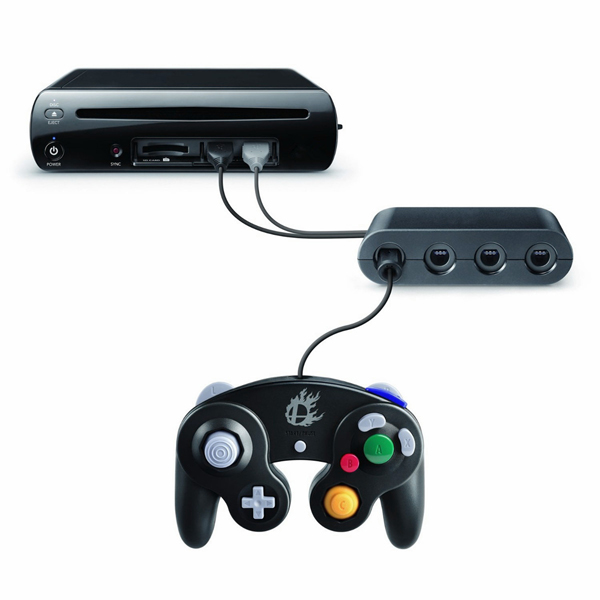 NEW 4 Ports GameCube GC Controller Adapter Converter for Wii U B