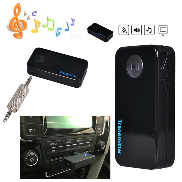 3.5mm Stereo Bluetooth Audio Music Transmitter Adapter For TV DV