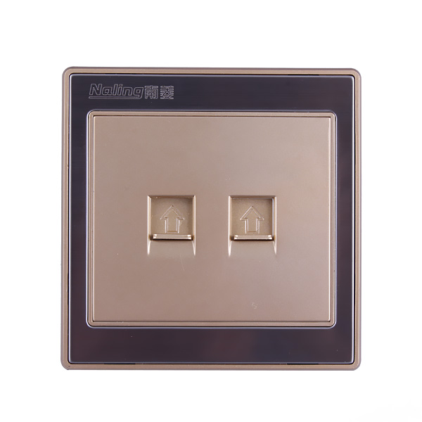 Naling Power Socket Two Gang Type 86 Wall Computer Socket/Outlet