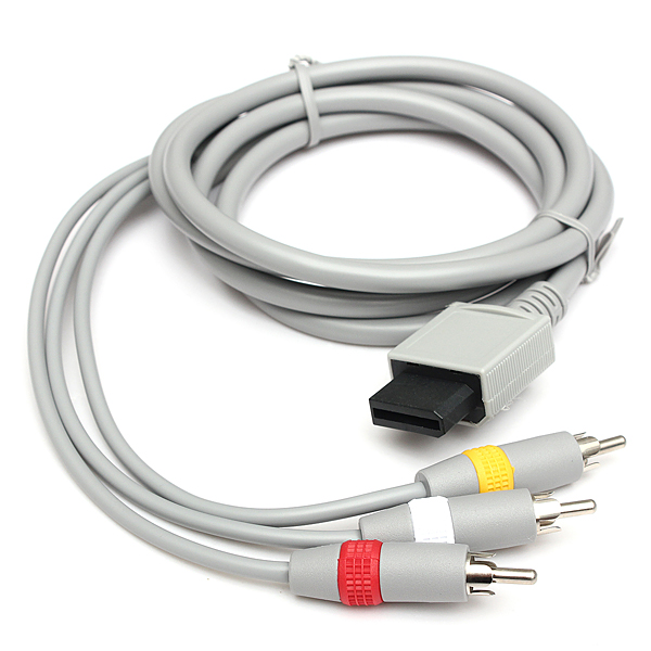 1.8m Audio Video AV TV Composite RCA Cable for Nintendo Wii Cons