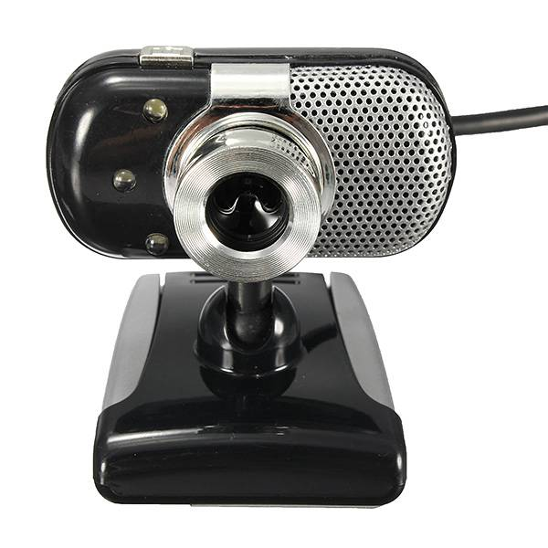 3 LED Lights USB 2.0 HD Mini Webcam with Built-in Microphone