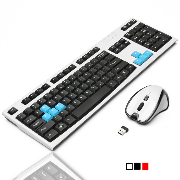 2.4G Optical Wireless Gaming Keyboard 1600 DPI Mouse Set for Win