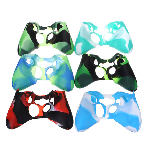 Replacement Camouflage Silicone Skin Cover Case for Xbox360 Cont
