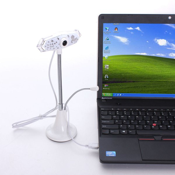 Bendable USB2.0 HD 10.0 M Pixels Webcam with Mic Win 7/8