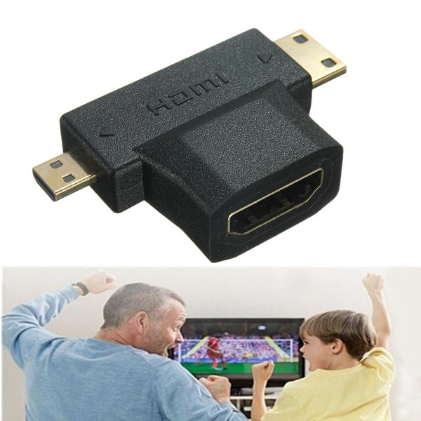 1080p HDMI Female to Mini Micro HDMI Jack Male V1.4 90 Degree Ad