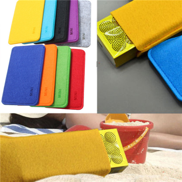 Felt Carry Soft Case Cover Bag for Jawbone Mini Jambox Bluetooth
