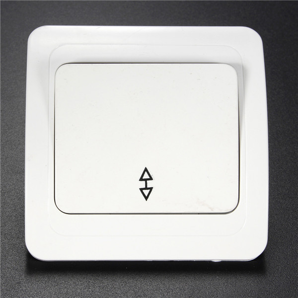 Wall Socket Panel Lamp Switch Button 1-Gang 2-Way 10A Light Cont