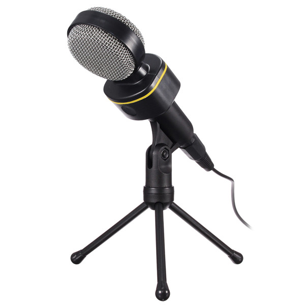3.5mm Stereo Plug Condenser Microphone Mic With Stand Studio Aud