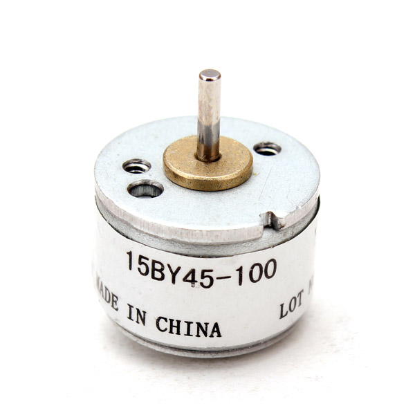 15mm 2 Phase 4 Wire Stepper Motor Grey Micro 18° Stepper Motor