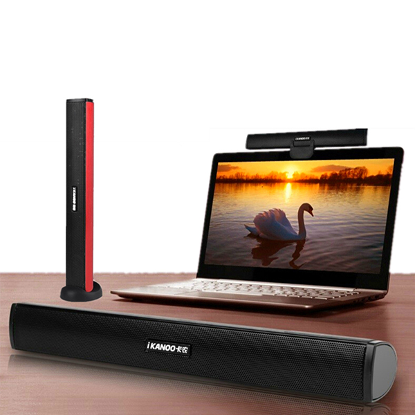 iKANOO Portable Speaker Stereo USB Soundbar Sound Bar Stick Musi