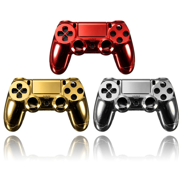Chrome Plating Housing Shell Parts Case For PS4 Controller DualS