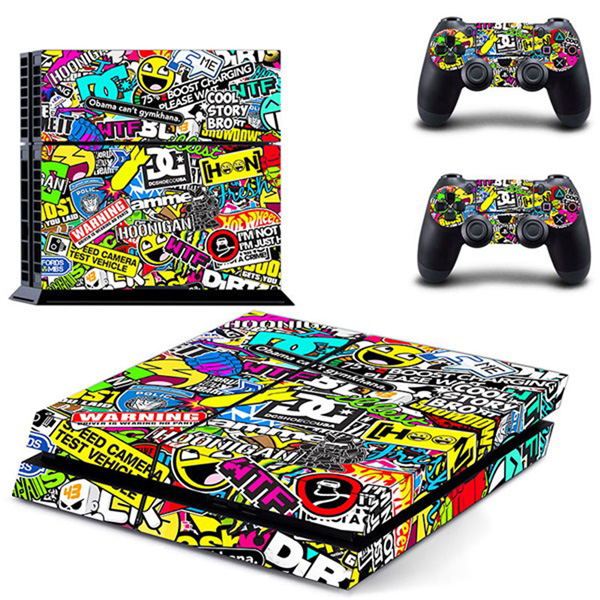 Colorful Game Decal Cover Skin Sticker For PS4 PlayStation Conso