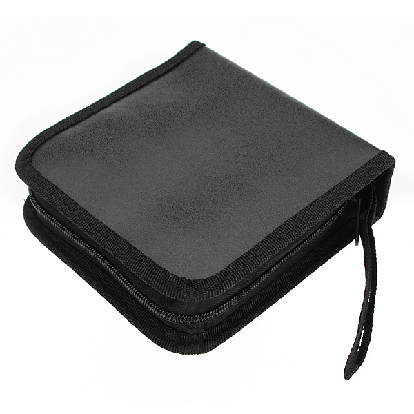 40 disc CD DVD Holder Disc Organizer Wallet Bag Album Black