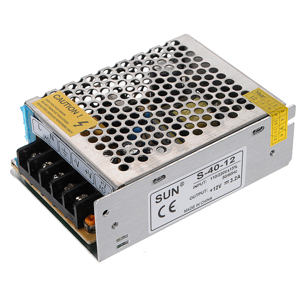 12V 3.2A 40W Switch Power Supply Driver For LED Light Strip 110V