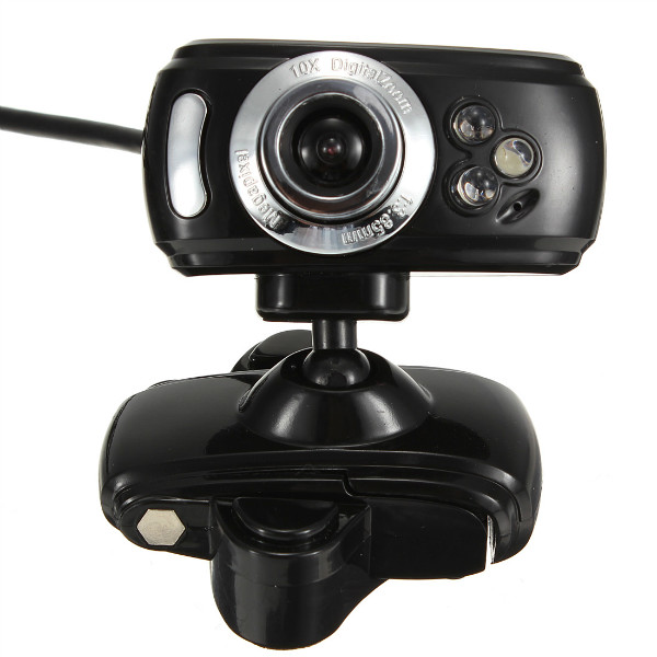 USB 30M HD Webcam Camera With Microphone Mic 3 LED for PC Laptop