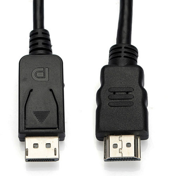 New 1.8M 6ft DisplayPort DP Male to HDMI Male Cable HDTV
