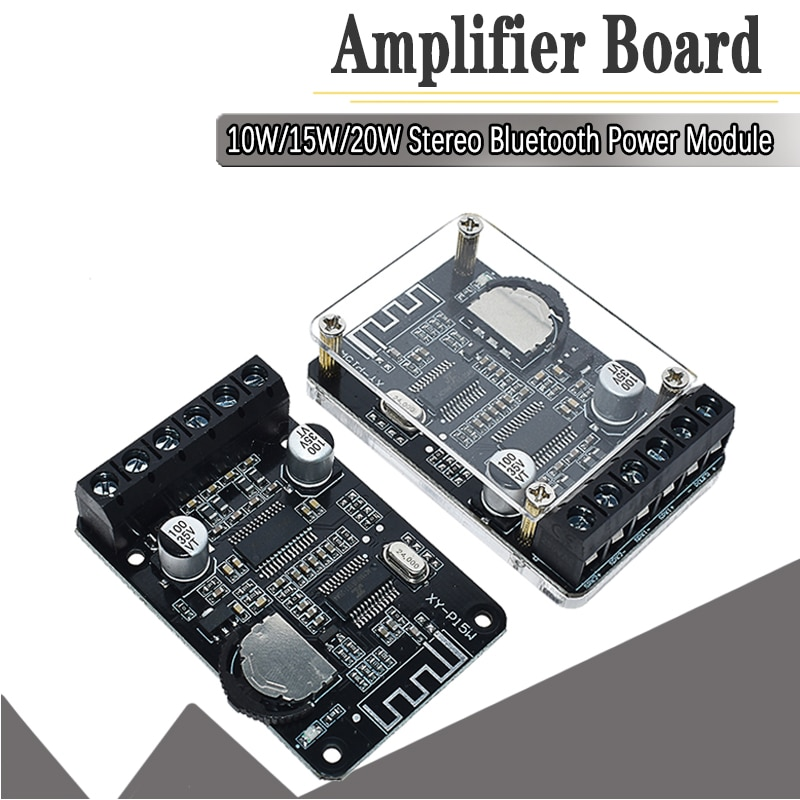 10W/15W/20W/30W/40W Stereo Bluetooth Power Amplifier Board 12V/2