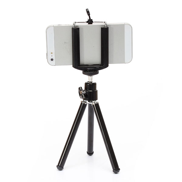 360 Rotatable Cell phone Tripod Stand Holder for Samsung Smartph