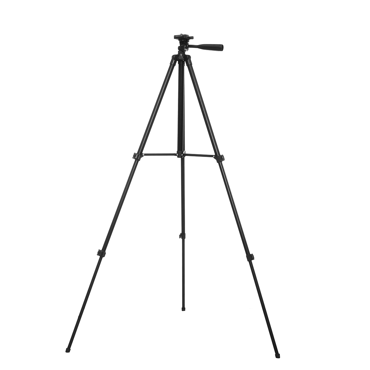 1.3m 3 Sections Aluminum Alloy Tripod Phone Holder With Phone Cl