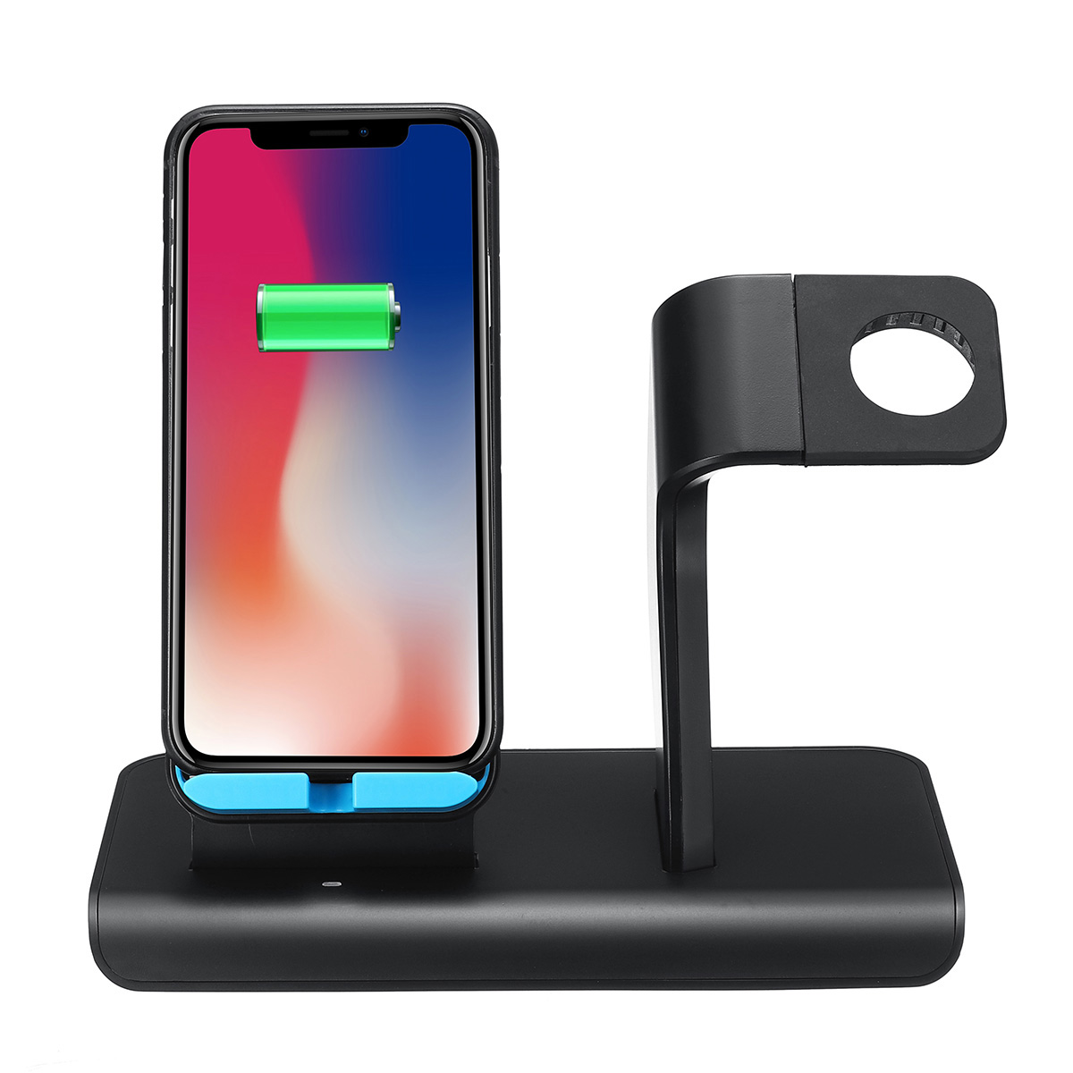10W 2 In 1 Qi Wireless Charger Fast Charging Phone Watch Holder