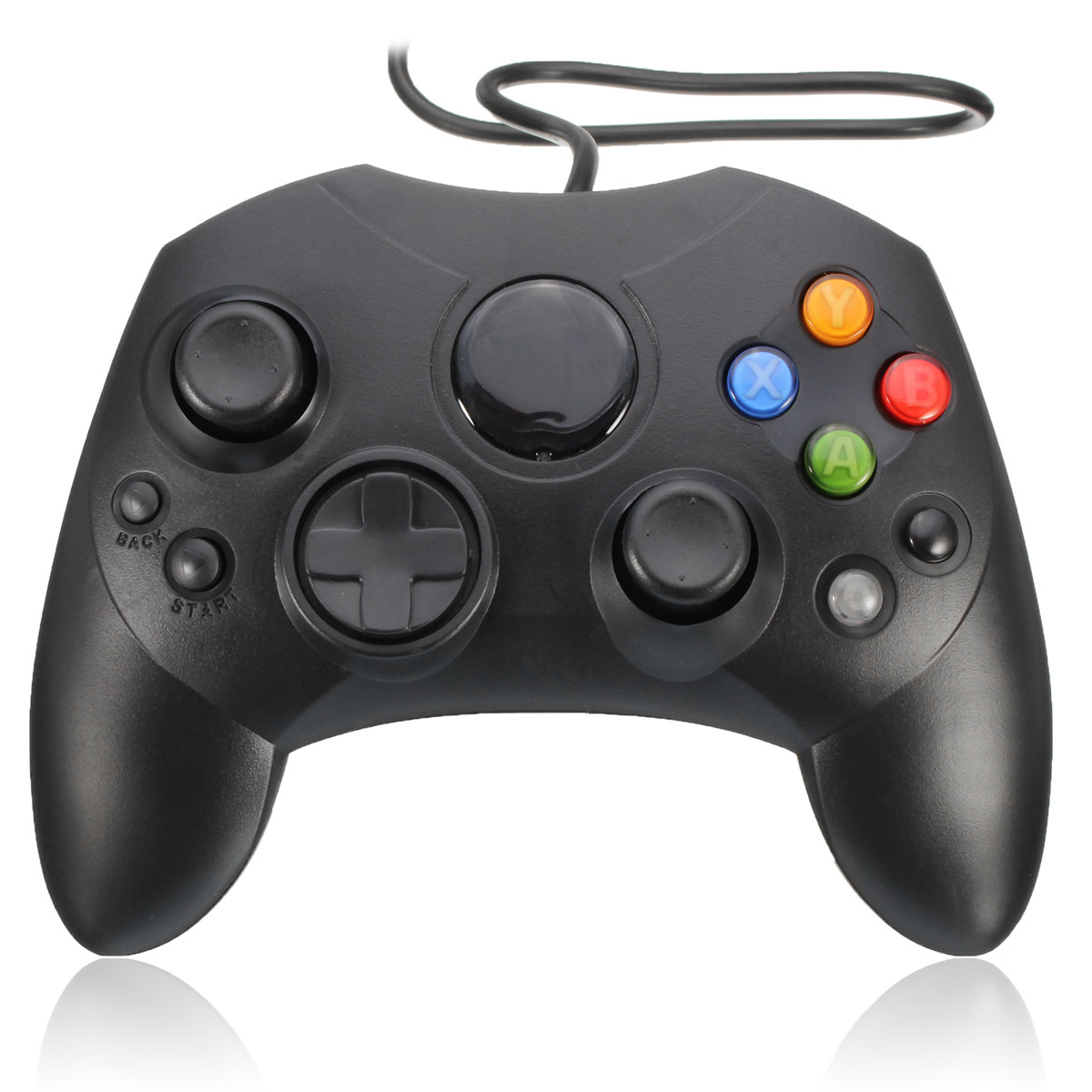 Black Wired Classic Gamepad Joypad Game Controller For Xbox Cons