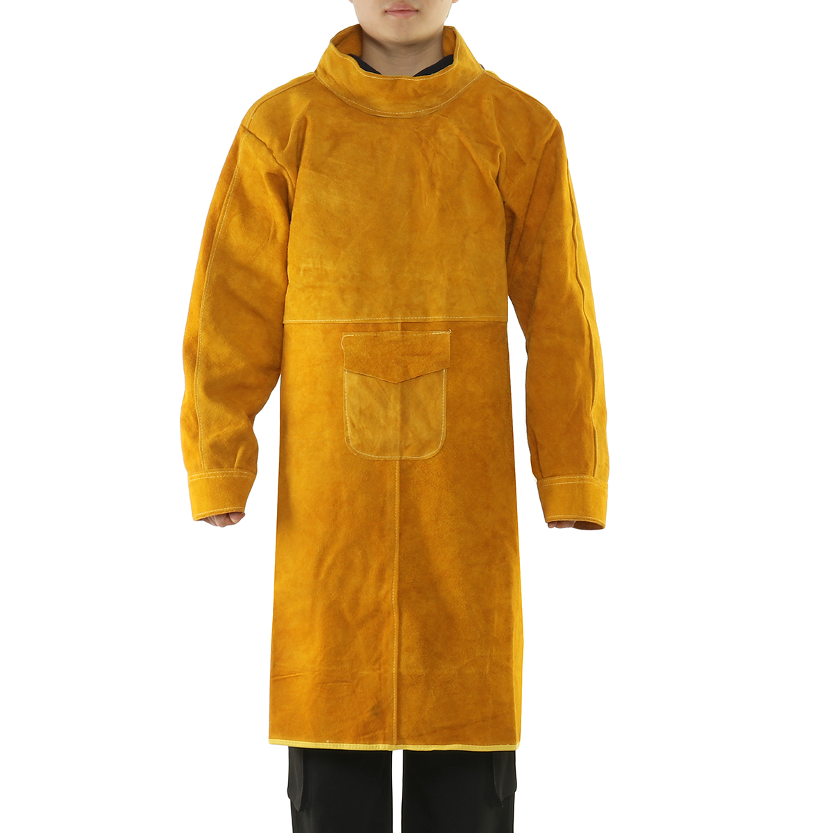 1.05m Cowhide Work Clothes Welding Protective Clothing Heat and