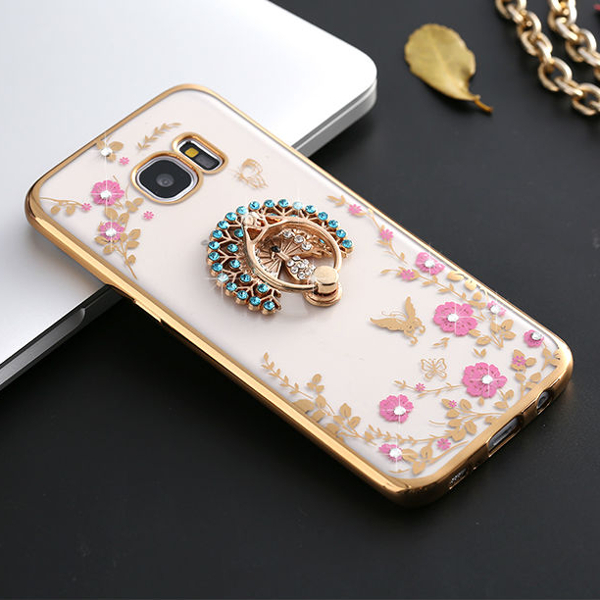 360 Degree Clasp Ring Holder TPU Soft Back Case Cover For Samsun