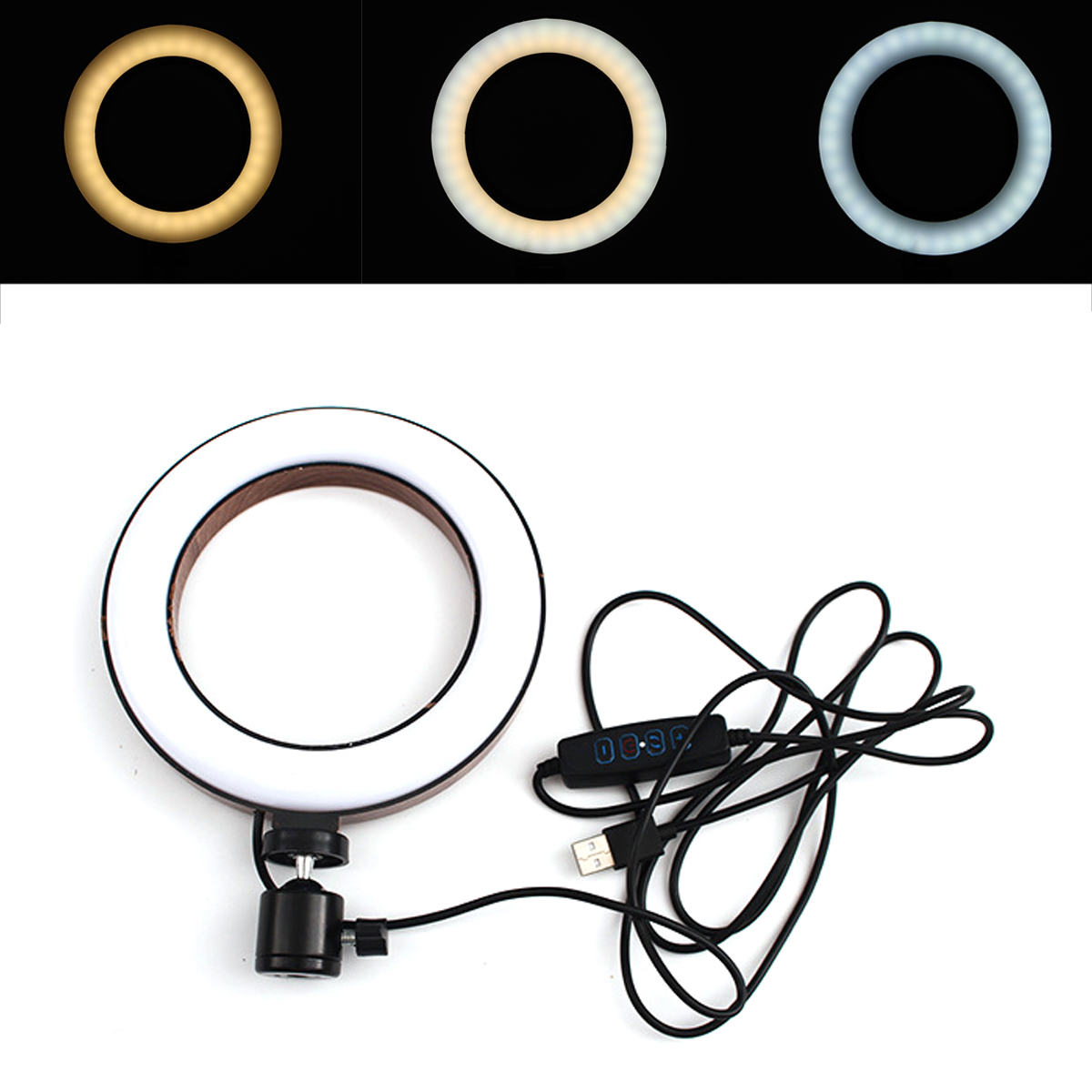 10 inch Portable Stepless Adjustable LED Ring Full Light Makeup