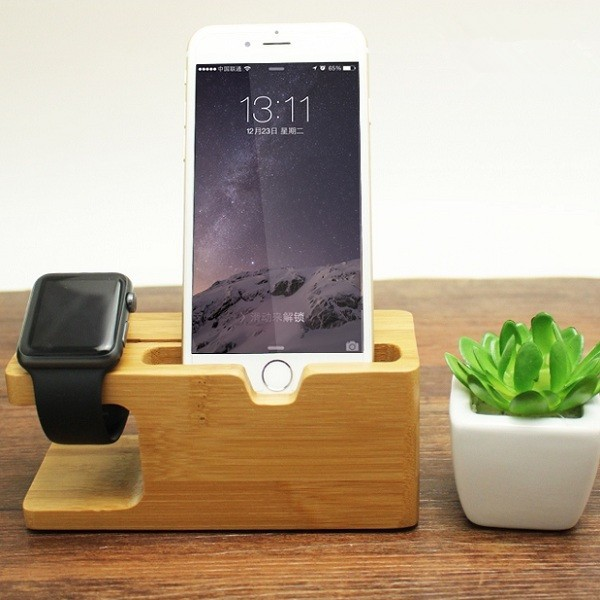 Bamboo Universal Dock Station Bracket Cradle Stand Holder for un