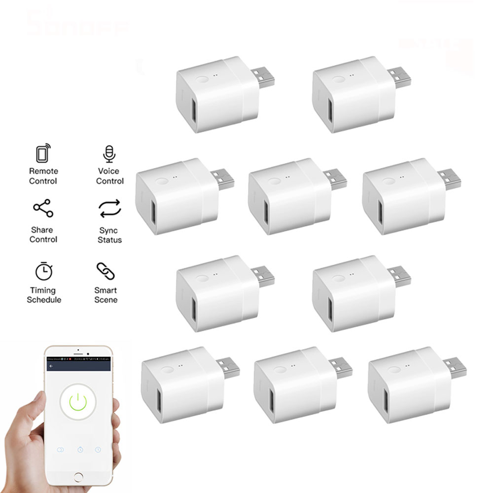 10Pcs Micro 5V Wireless USB Smart Adaptor WiFi Mini USB Power Ad