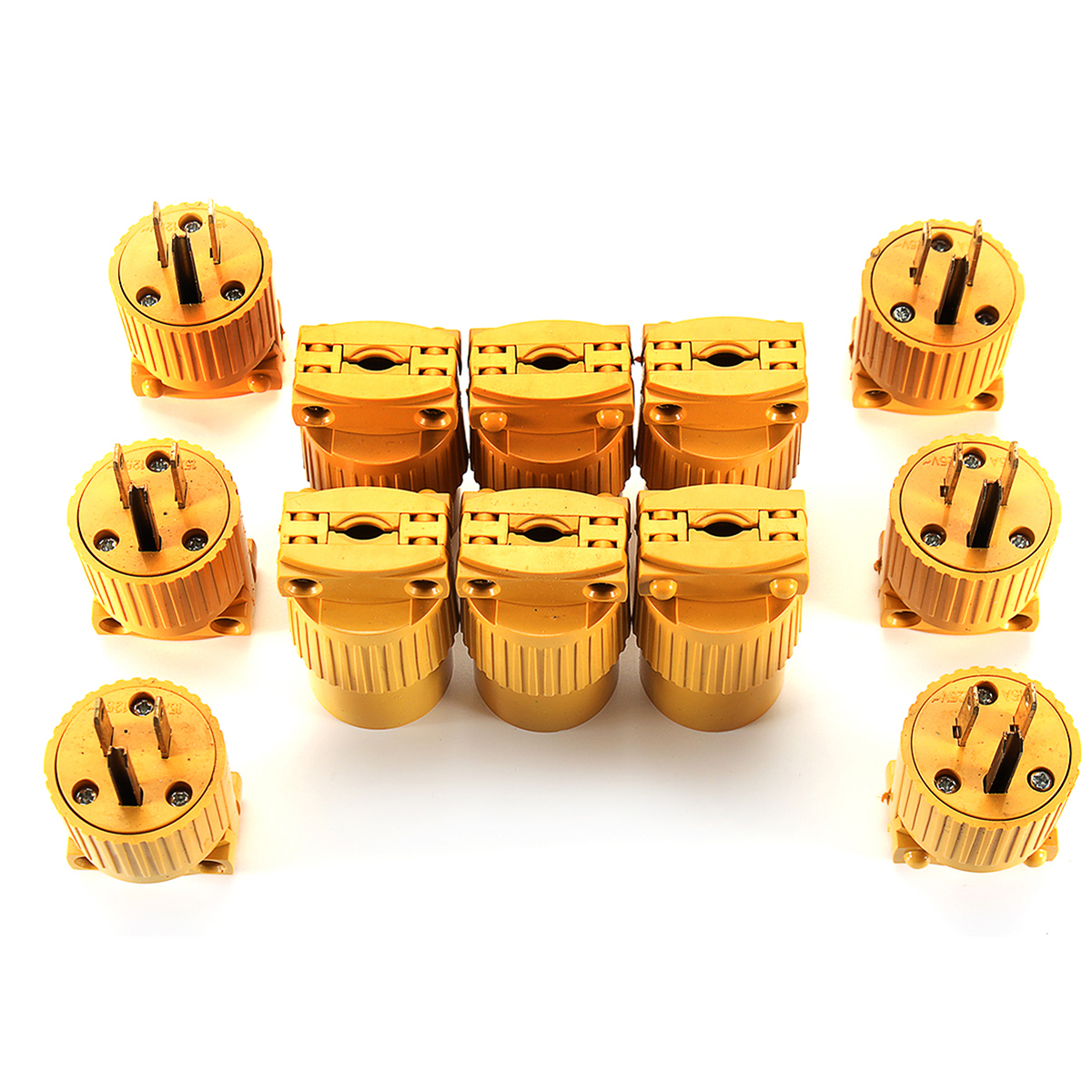 12pcs Male & Female Extension Cord Replacement Electrical End Pl